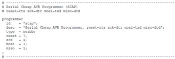 SCAP - programmateur AVR simple