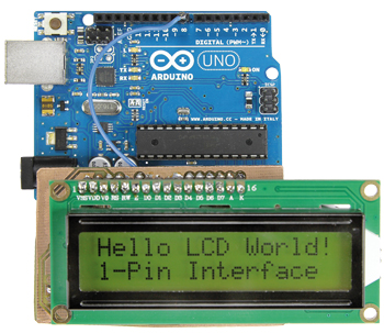 interface LCD mono-fil