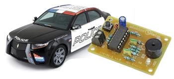 sirène de police avec un seul circuit intégré