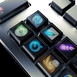 Un écran dans un clavier, à moins que ce soit le contraire