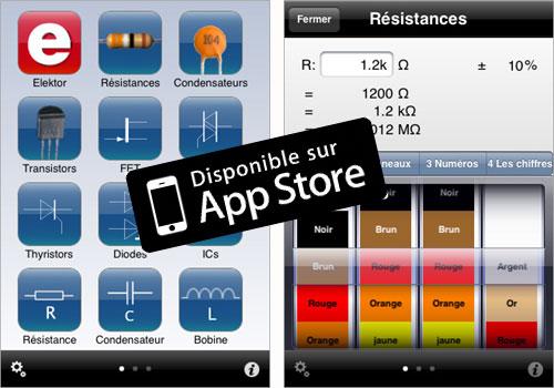Application Electronic Toolbox d'Elektor sur iPad et iPhone : nouvelle version
