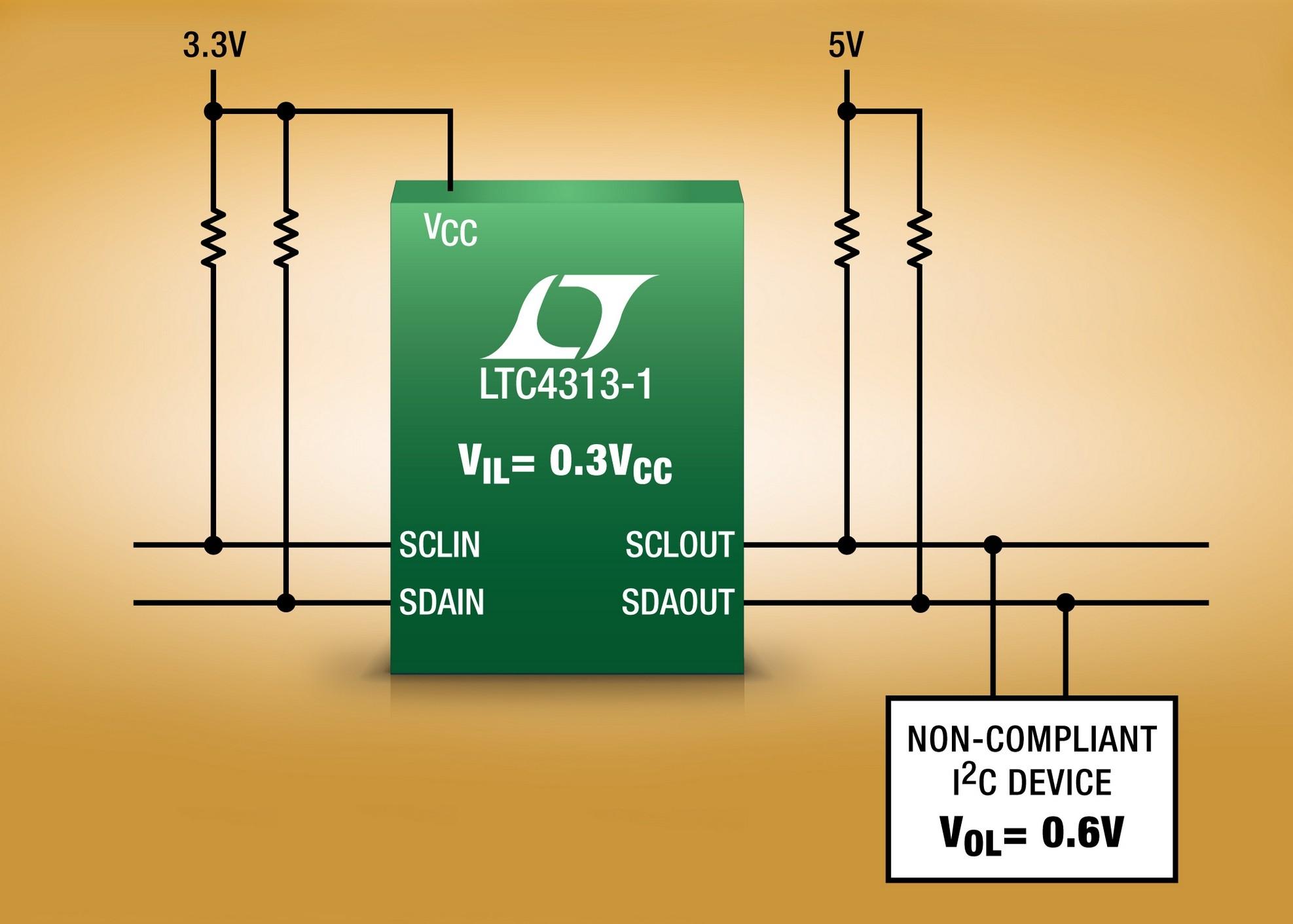 Tampon de bus I²C polyvalent à accélérateur de temps de montée