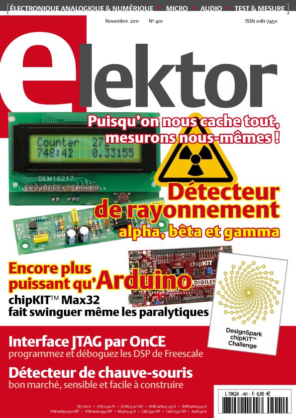 Elektor n°401 (novembre 2011) en kiosque