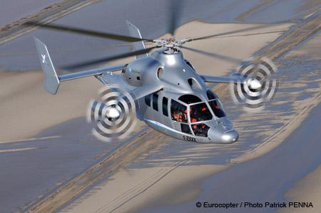 Un hélicoptère plus rapide qu'un hélicoptère