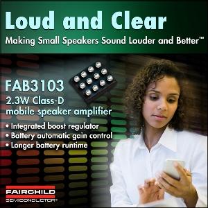 Ampli audio lilliputien pour appareils mobiles