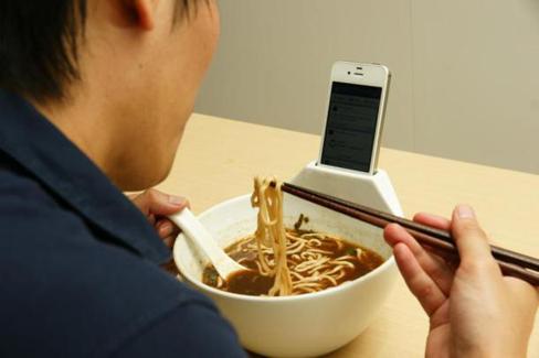 Déjeunez en tête à tête ... avec un iPhone
