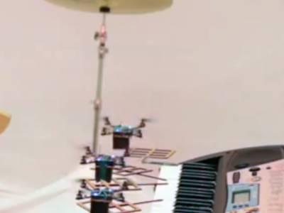 Orchestre de robots volants