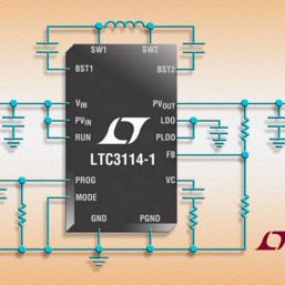Convertisseur DC/DC abaisseur-élévateur synchrone 40V