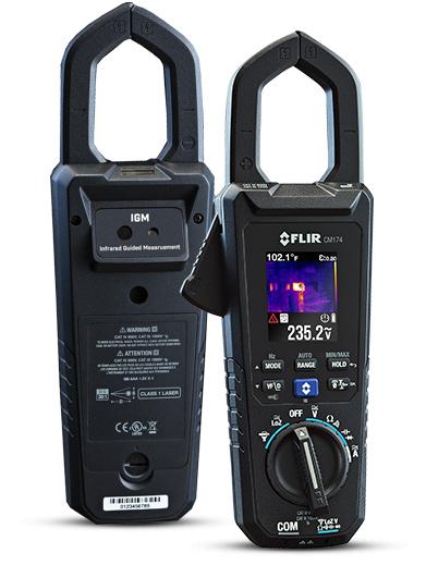La pince ampèremétrique à guidage infrarouge CM174.