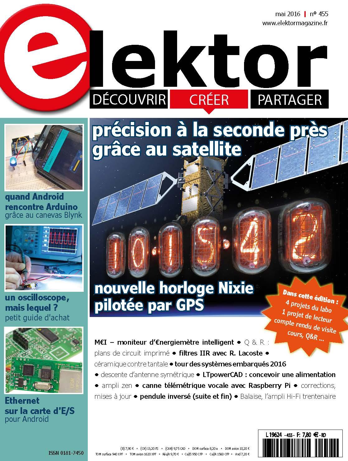 Le nouveau numéro d'Elektor (mai 2016) vient de paraître