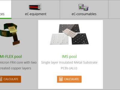 Accès au service IMS pool depuis le site d'Eurocircuits.
