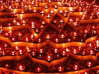 Joyeux Diwali : diya électronique