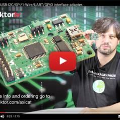 Axicat : Interface polyvalente sur USB pour I2C/SPI/1-Wire/UART/GPIO