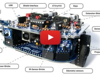 Robot programmable NIBO burger