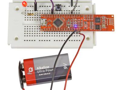 carte Pretzel avec bouton et LED