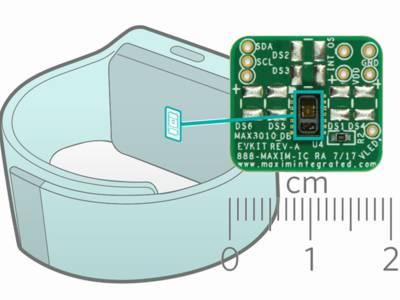 Module de détection avec capteurs d'oxymétrie pulsée et de fréquence cardiaque