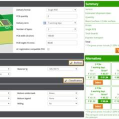 PCB Configurator : optimalisez tous les paramètres de vos CI AVANT la production