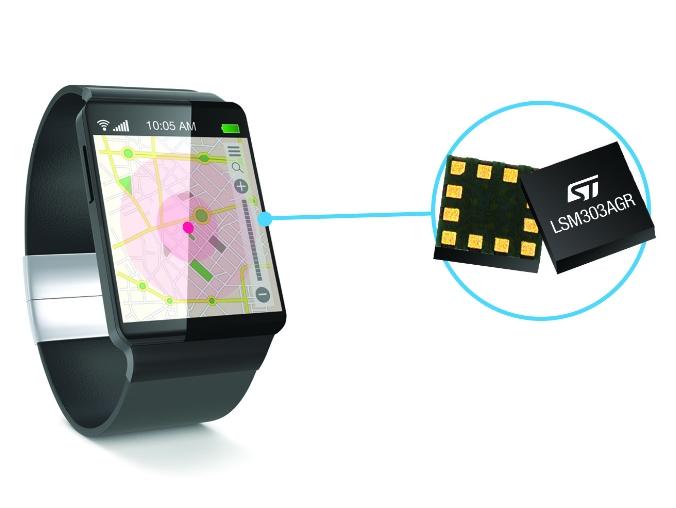 Le module eCompass équipe notamment les montres connectées.