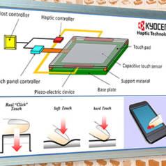 Un retour de vibration crée la sensation d'un véritable bouton sous le doigt de l'utilisateur.