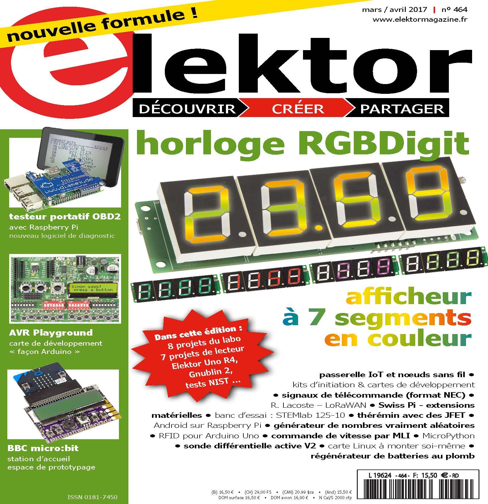 Le nouveau numéro d'Elektor (mars-avril)