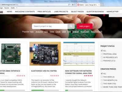 Tout chaud tout beau, le nouveau site Elektor.Labs.