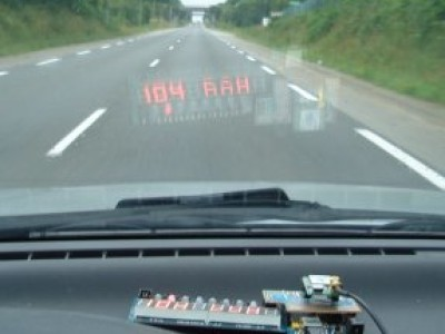 Head-up Speed Display for Car